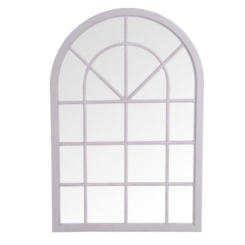 . Small Arched Window Mirror Grey